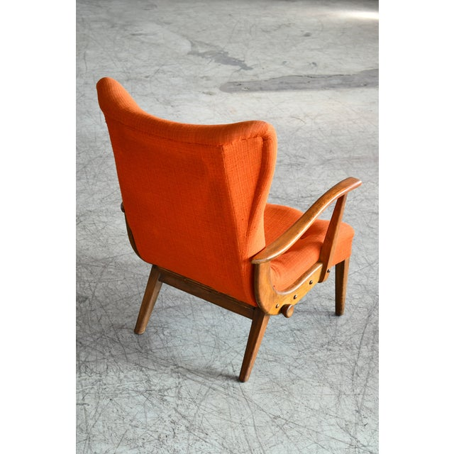 Wood Otto Færge Attributed Reclining Lounge in Teak, Denmark, 1950s For Sale - Image 7 of 10