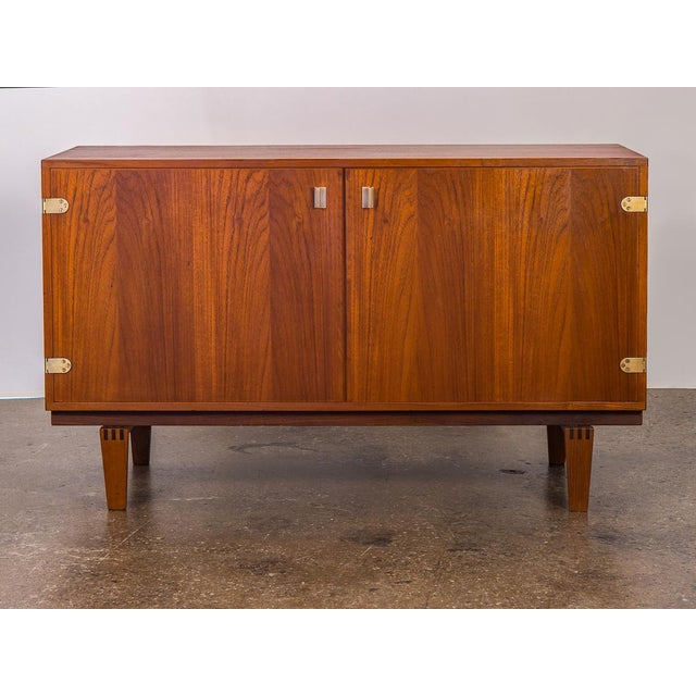 Danish Modern Small Teak Sideboard by Peter Lovig Nielsen For Sale - Image 3 of 10