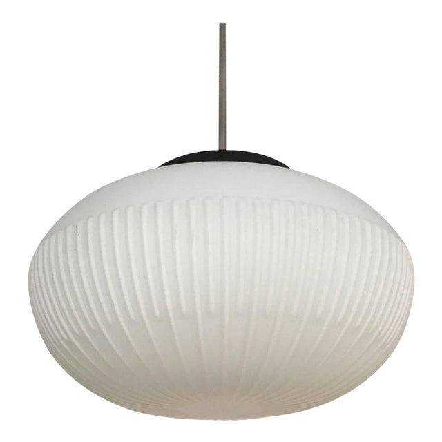 Opaline Glass Pendants with Structured Spheres For Sale
