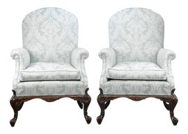 Image of Mahogany Bergere Chairs