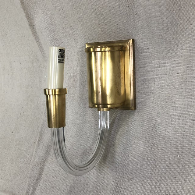 Visual Comfort Visual Comfort Vivian Single Wall Sconce in Antique Brass For Sale - Image 4 of 7