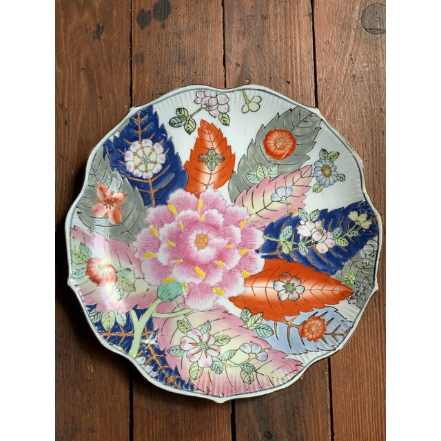 Pink Tobacco Leaf Decorative Plate For Sale - Image 8 of 13