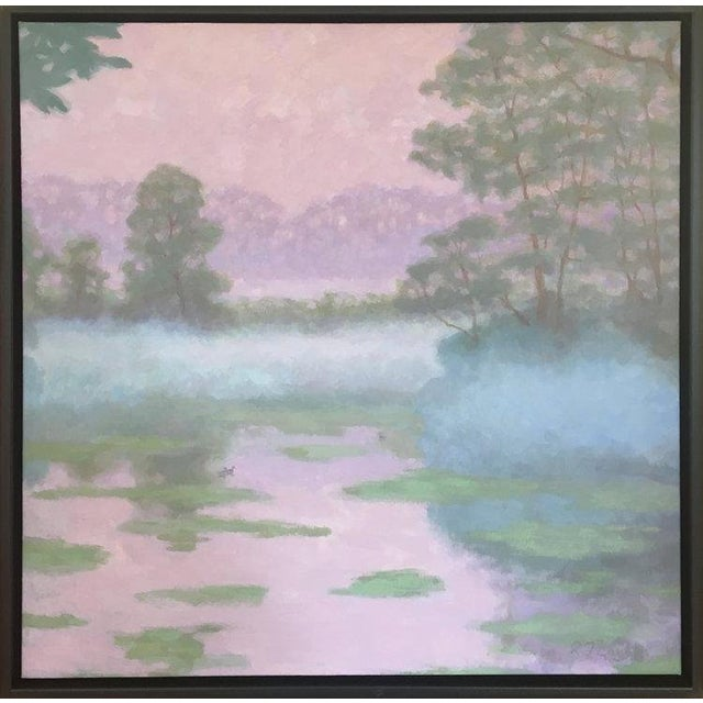 Rob Longley, Spring, 2018. Signed by artist Framed Dimensions: 32 x 32