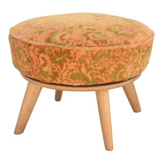 Heywood Wakefield Swivel Foot Stool, USA 1960s For Sale