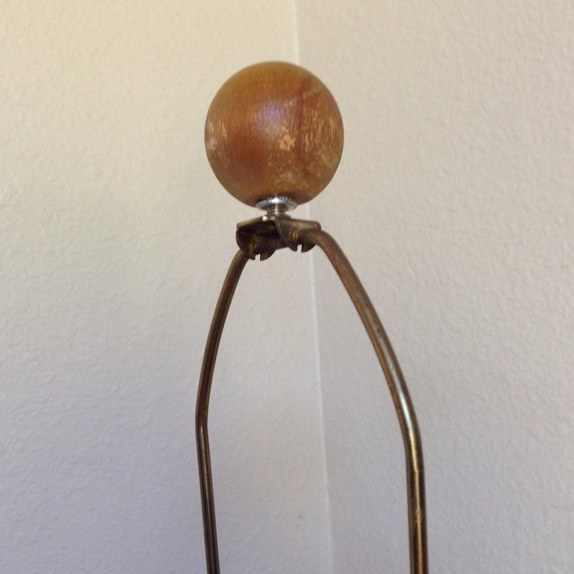 Mid-Century Bamboo Wrapped Porcelain Lamp - Image 5 of 5