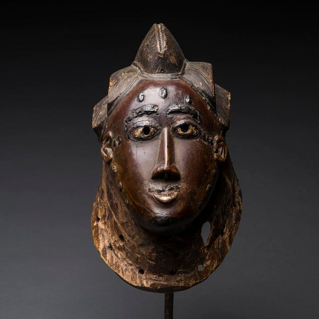 Please update measurements and price! This powerful guro mask is an exceptional example of its type. It comprises a large...