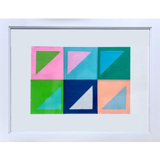 Natasha Mistry Contemporary Geometric Patchwork Collage For Sale