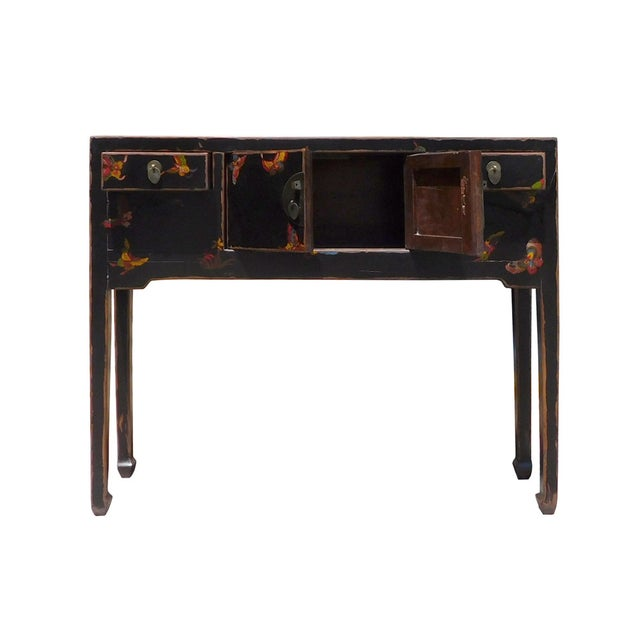 Bufferfly Motif Black Console Table - Image 5 of 6