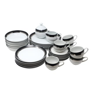 Mid-Century Modern Pivotal Dinnerware by Ben Siebel for Mikasa - Service for 6 For Sale