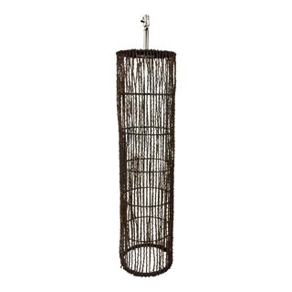 Arteriors Organic Modern Brown Rattan Chance Floor Lamp For Sale