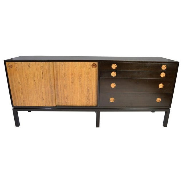 Harvey Probber Rosewood and Mahogany Credenza For Sale - Image 12 of 12