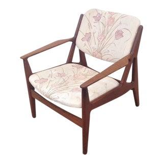 Mid-Century Modern Arne Vodder for Vamo Teak Lounge Chair For Sale