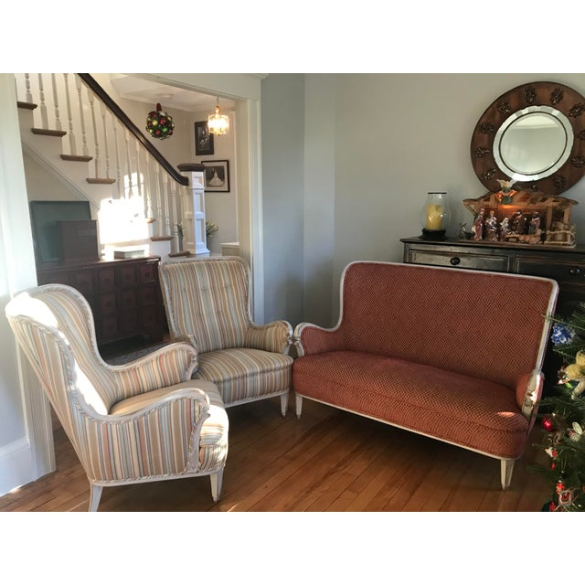 Mid-20th Century Chairs & Settee From Sweden For Sale - Image 13 of 13