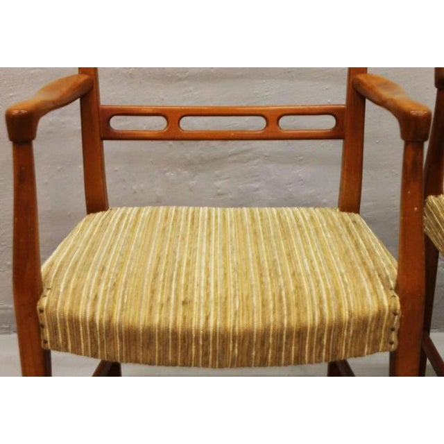 1950s Mid-Century Futura Cherry Wood Armchair by David Rosén for Nordiska Kompaniet For Sale - Image 5 of 6
