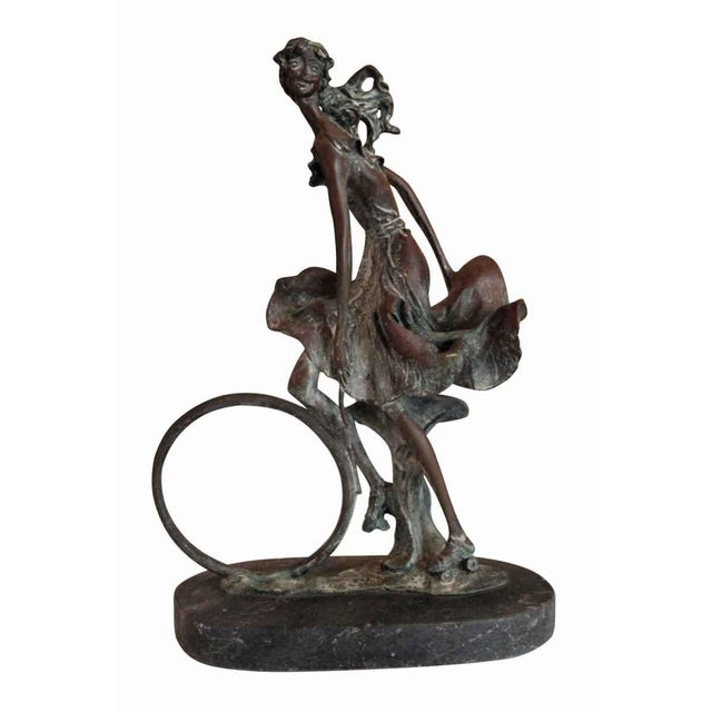 Wonderful statue by the famous French designer and artist Louis Icart entitled Playtime.