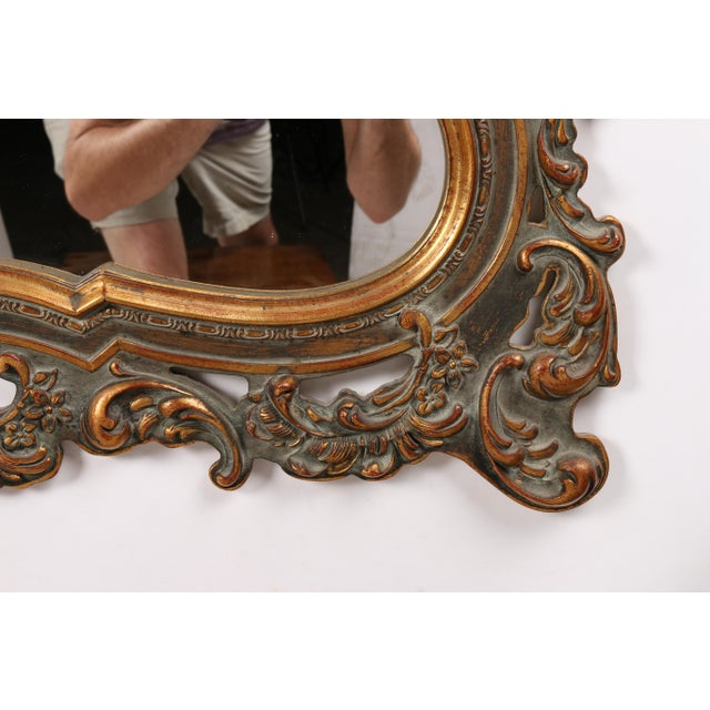1960s Rococo Revival Mirror For Sale - Image 4 of 5