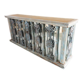 Cast Iron Railing Console For Sale