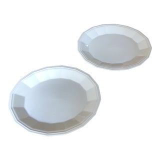 White Dover Serving Plates - A Pair For Sale