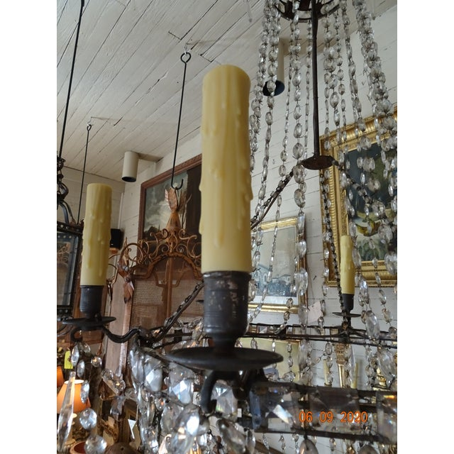 French 18th Century Empire Crystal Chandelier For Sale - Image 3 of 13