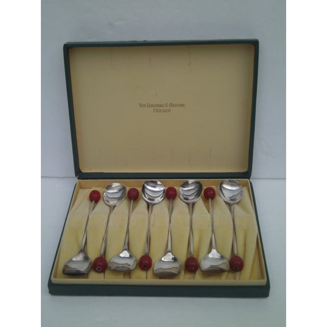 Deco Von Lengerke & Antoine Applesauce Spoons For Sale - Image 9 of 10