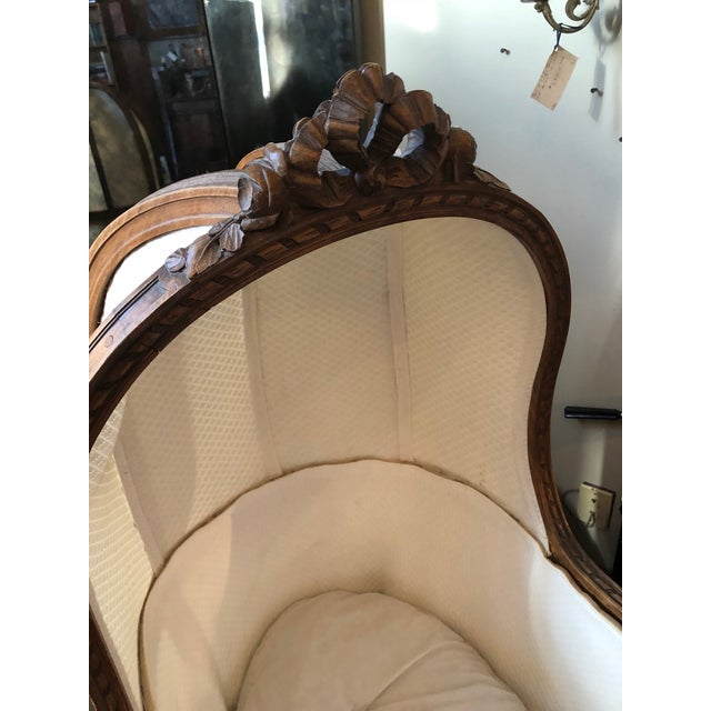 Late 19th Century 19th Century Antique Louis XVI Style Carved Walnut Bassinet For Sale - Image 5 of 12