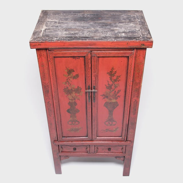 19th Century Chinese Folk Painted Cabinet For Sale In Chicago - Image 6 of 10