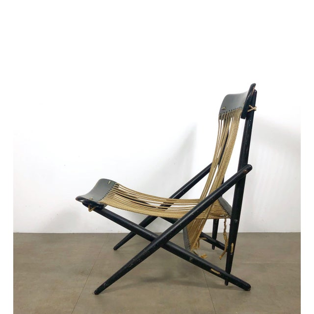 1950s Rare Maruni Rope Lounge Chair, Japan Circa 1950's For Sale - Image 5 of 8