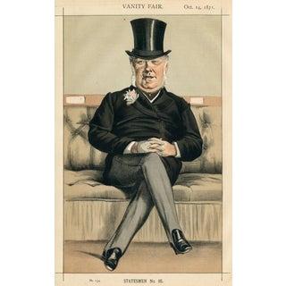 "1871 ""Henry William Eaton"" Vanity Fair Portrait Lithograph Print For Sale"