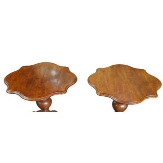 20th Century French Country Henredon Distressed Pine Turtle Top Side Tables - a Pair Preview
