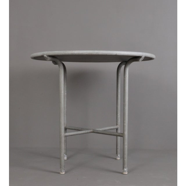 Industrial Blue Stone , Indoor/ Outdoor Table Switzerland Circa 1950 For Sale - Image 3 of 9