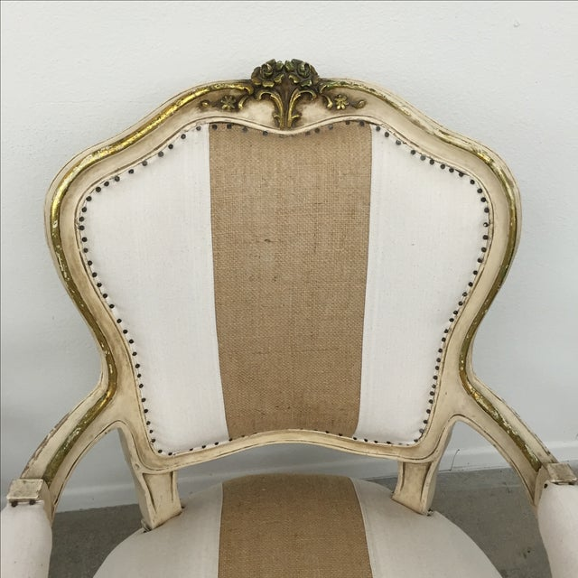 Vintage Louis XV Style Armchairs - Pair - Image 5 of 11