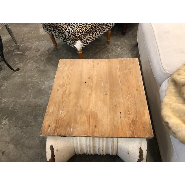 Restoration Hardware Distressed Ionic Capital Coffee Table For Sale In Los Angeles - Image 6 of 7