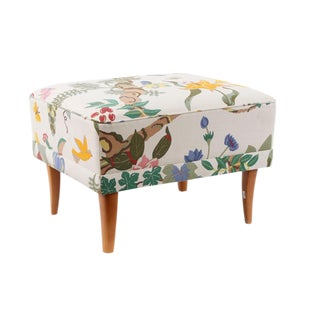 Upholstered Carl Malmsten Stool For Sale