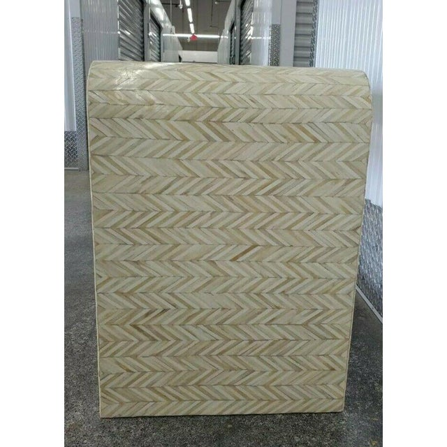 1970s Tessellated Bone Nightstand With Drawer For Sale - Image 12 of 13