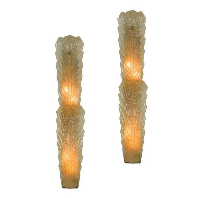 Pair of Large Gold Dust Murano Sconces For Sale - Image 11 of 11