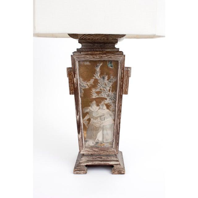 James Mont Asian Cerused Oak Lamp For Sale - Image 4 of 7
