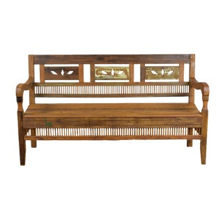 Reclaimed Peroba Rosa Wood Balinese Style Bench