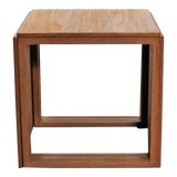 Image of Scandinavian Modern Cube of Three Teak Nesting Tables by Kai Kristiansen For Sale