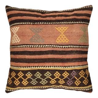 "Soft Stripe Vintage Kilim Pillow | 20"" For Sale"