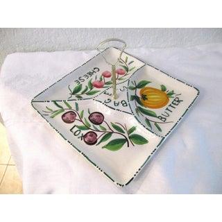 Vintage Italian Pottery Bagel Serving Platter Preview