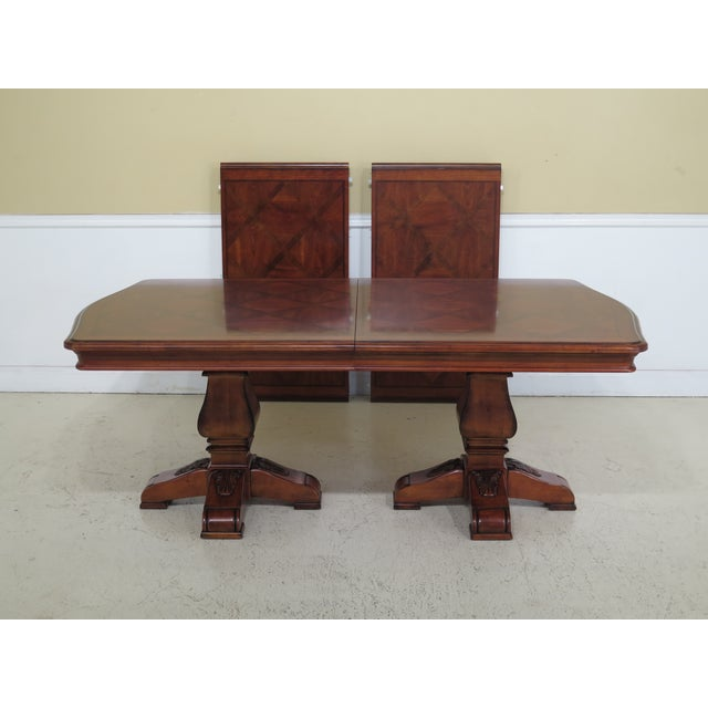 Traditional Ethan Allen Tuscany Collection Walnut Finish Dining Table For Sale - Image 13 of 13