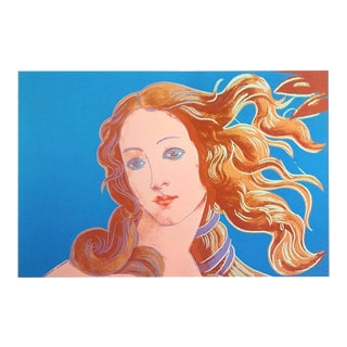 "Andy Warhol Foundation Lithograph Print Pop Art Poster "" Birth of Venus "" 1984 For Sale"