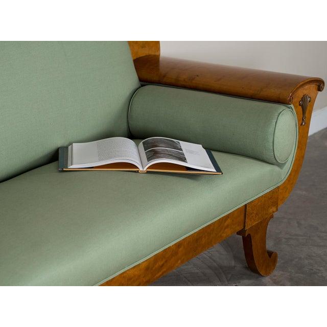 1920s Swedish Grace Biedermeier Satinwood Sofa For Sale - Image 9 of 11