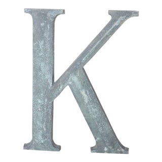 """19th Century French Cast Bronze Letter """"K"""" For Sale"""
