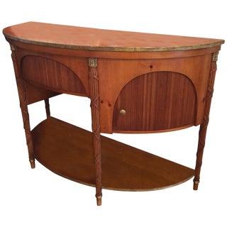 Elegant Demilune Sideboard by Baker For Sale
