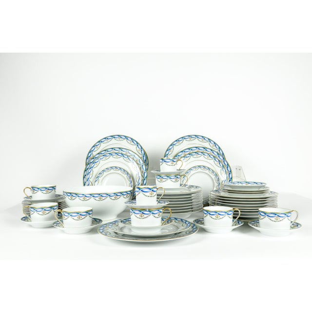 Complete Vintage Limoges Made For Tiffany Dinnerware Service for Eight People with extra pieces. Every piece is in...