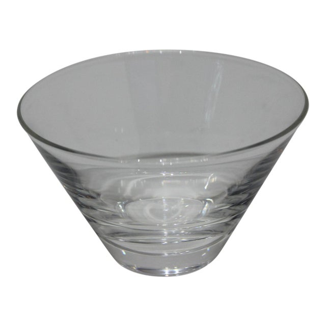 Glass Mid-Century Modern Steuben Serving Bowl for Martini Olives Clear Glass Signed in Verso For Sale - Image 7 of 9