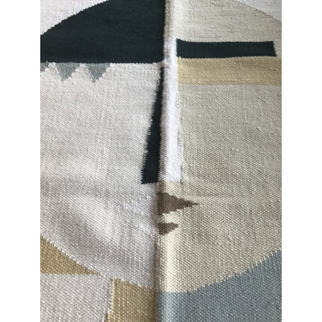 Abstract Custom Flat Weave Abstract Female Figure Rug - 3′ × 3′10″ For Sale - Image 3 of 7
