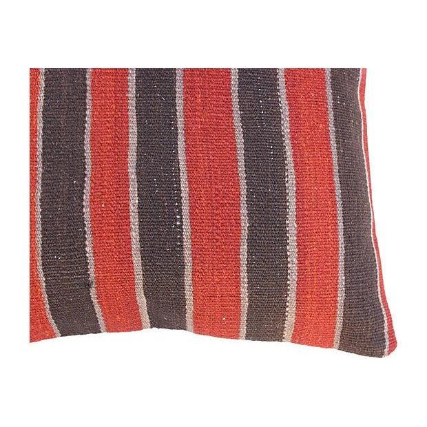 Striped Turkish Kilim Pillows - A Pair - Image 4 of 4