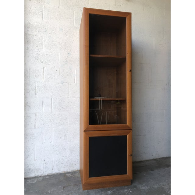 Vintage Danish Modern Style Curio China Display Cabinet. For Sale - Image 13 of 13